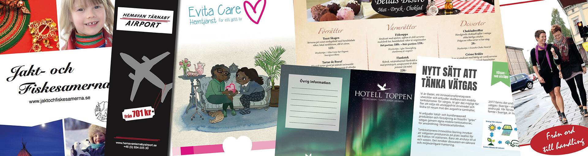 broschyrer och folders
